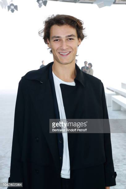 Star Dancer Hugo Marchand attends the Haider Ackermann show as part of the Paris Fashion Week Womenswear Spring/Summer 2019 on September 29 2018 in...