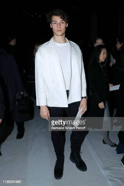 Star Dancer Hugo Marchand attends the Haider Ackermann show as part of the Paris Fashion Week Womenswear Fall/Winter 2019/2020 on March 02 2019 in...