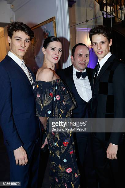 Star dancer Hugo Marchand choreographer MarieAgnes Gillot Ermanno Piraes and Star dancer Germain Louvet attend the Annual Charity Dinner hosted by...