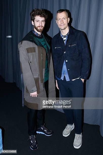 Star Dancer Josua Hoffalt and Stylist Lucas Ossendrijver attend the Lanvin Menswear Fall/Winter 2016-2017 show as part of Paris Fashion Week on...