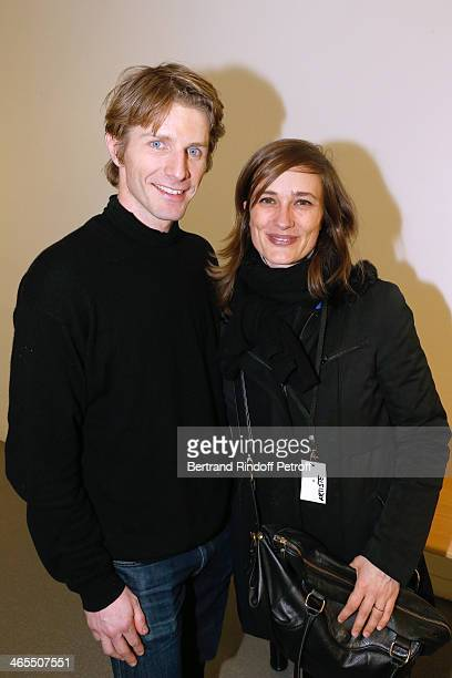 Star Dancer Karl Paquette and his wife attend the 'Nuit De La Chine' Opening Night at Grand Palais on January 27 2014 in Paris France