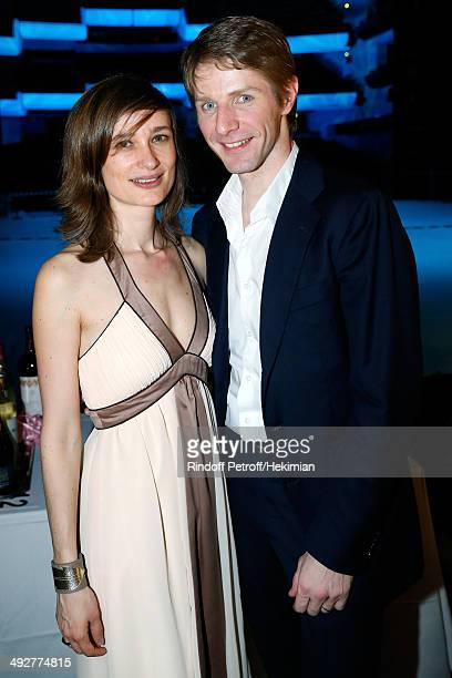 Star Dancer Karl Paquette and his wife Marion attend the AROP Charity Gala Held at Opera Bastille on May 21 2014 in Paris France