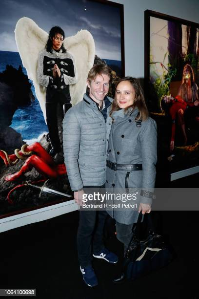 Star Dancer Karl Paquette and his wife Marion attend the Inauguration of the Exhibition Michael Jackson On The Wall at Grand Palais on November 21...
