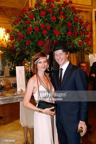 Star dancer Karl Paquette and wife Marion attend Le Grand Bal De La Comedie Francaise held at La Comedie Francaise on July 4 2013 in Paris France