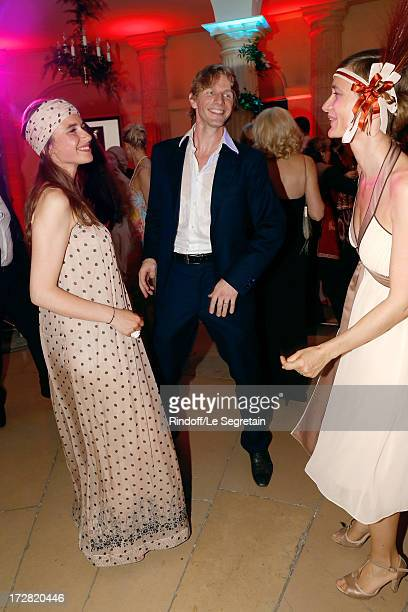 Star dancer Karl Paquette and wife Marion dancing during Le Grand Bal De La Comedie Francaise held at La Comedie Francaise on July 4 2013 in Paris...