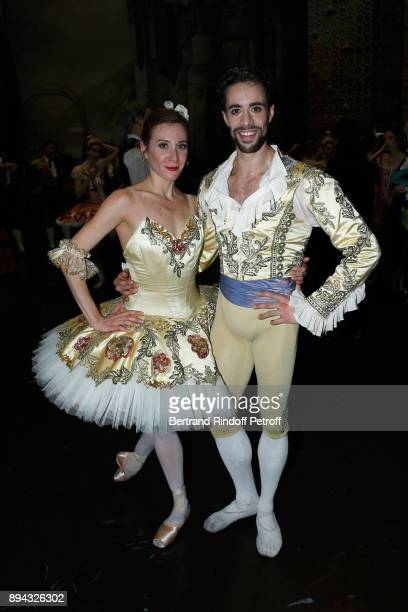 Star dancer Ludmila Pagliero and Star dancer Mathias Heymann pose after have performed in 'Don Quichotte' during the 32th 'Reve d'Enfants' Charity...