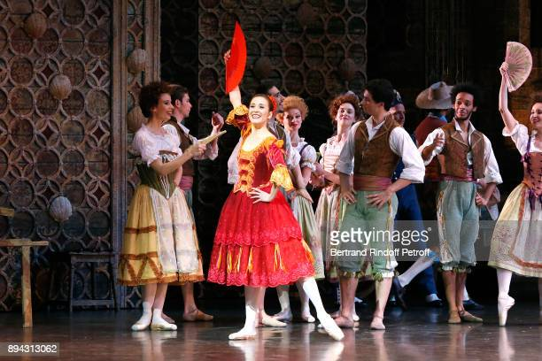 Star Dancer Ludmila Pagliero performs in 'Don Quichotte' during the 32th 'Reve d'Enfants' Charity Gala at Opera Bastille on December 17 2017 in Paris...