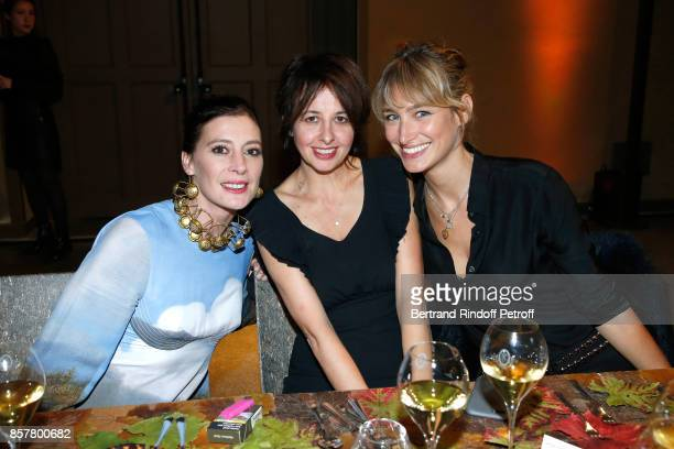 Star Dancer MarieAgnes Gillot actresses Valerie Bonneton and Pauline Lefevre attends the 'Diner Surrealiste' to celebrate the 241th birthday of...
