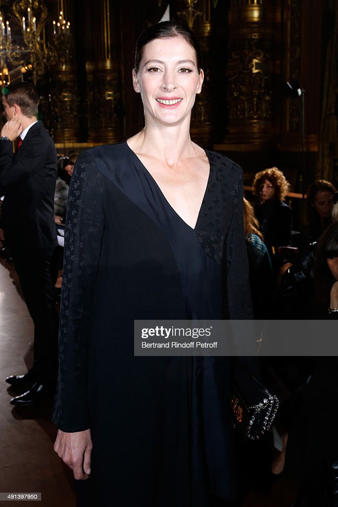 Star Dancer Marie-Agnes Gillot attends the Stella McCartney show as part of the Paris Fashion Week Womenswear Spring/Summer 2016. Held at Opera Garnier on October 5, 2015 in Paris, France.
