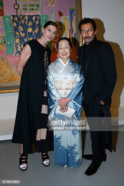 Star Dancer MarieAgnes Gillot Countess Setsuko Klossowska de Rola and Stylist Haider Ackermann attend the Icones de l'Art Moderne La Collection...