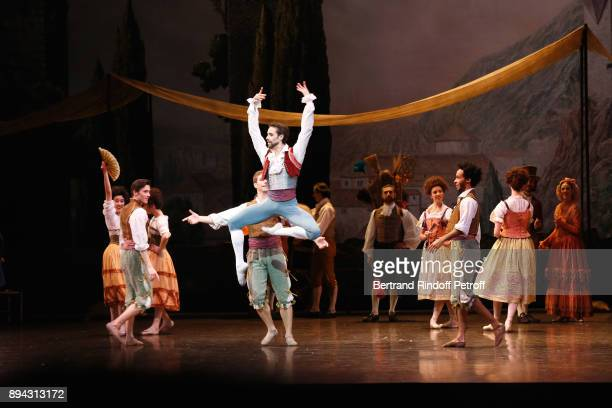 Star Dancer Mathias Heymann performs in 'Don Quichotte' during the 32th 'Reve d'Enfants' Charity Gala at Opera Bastille on December 17 2017 in Paris...