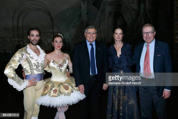 Star dancer Mathias Heymann Star dancer Ludmila Pagliero President of AROP JeanLouis Beffa President of the Event Angelique Motte and President of...