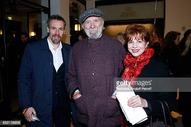 Star Dancer Nicolas Le Riche JeanPierre Marielle and his wife Agathe Natanson attend the Charity Gala against Alzheimer's disease at Salle Pleyel on...