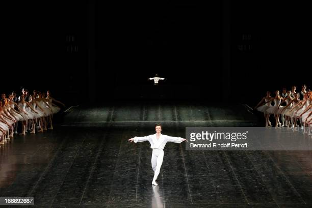 Star Dancer of 'Opera de Paris' Nicolas Leriche on stage while Tricentenary of the French dance school AROP Gala at Opera Garnier on April 15 2013 in...