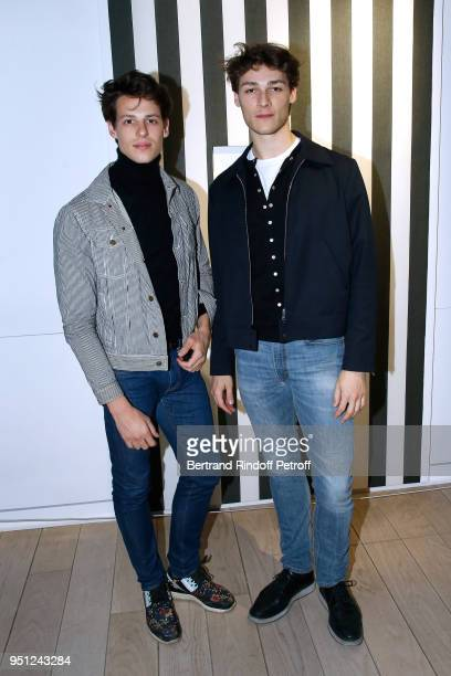 Star Dancers Germain Louvet and Hugo Marchand attend the Cocktail Party for the MarieAgnes Gillot by Koto Bolofo for Numero Magazine Exhibition...