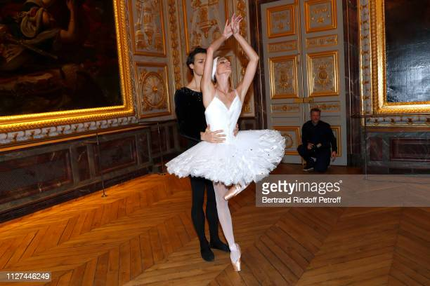 Star Dancers Hugo Marchand and Dorothee Gilbert perform during the 19th Gala Evening of the Paris Charter Against Cancer under the patronage of...