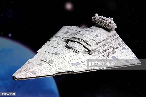 star destroyer - star wars stock pictures, royalty-free photos & images