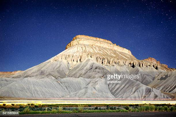 Star Detailed Night Image of Mt. Garfield, Palisade Colorado