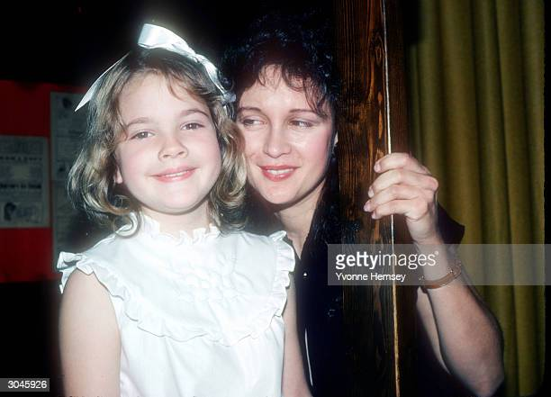 ET star Drew Barrymore poses for a photograph with her mother Jaid Barrymore June 8 1982 in New York City