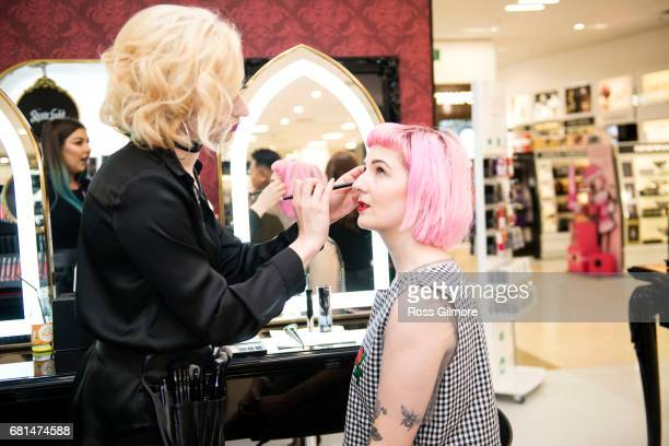 Star fashion and beauty blogger Honey Pop attends the Kat Von D Beauty range launch at Debenhams Silverburn on May 10 2017 in Glasgow Scotland