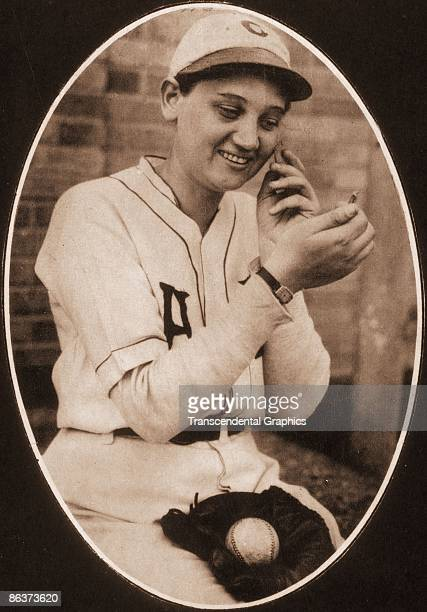 Star female pitcher Jackie Mitchell poses for a feminine portrait during the 1931 season in Chattanooga Tennessee