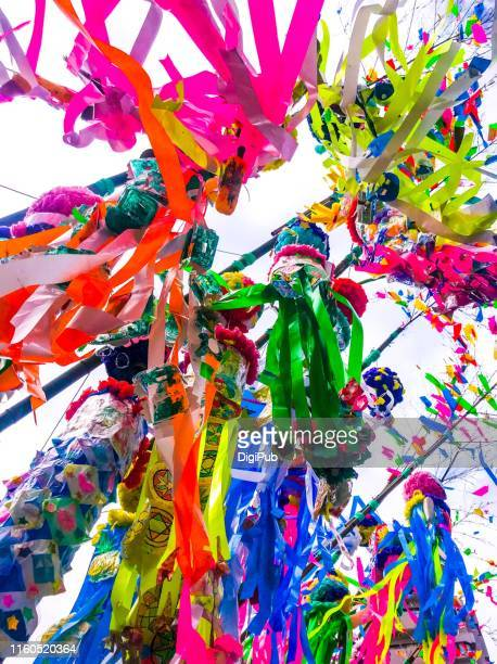 star festival decorations in hiratsuka - tanabata festival stock pictures, royalty-free photos & images