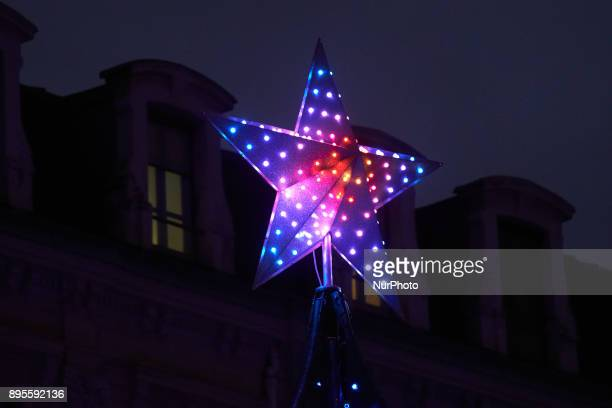 A star for Christmas near the Capitole A Christmas market is placed on the main square of Toulouse the Capitole People come to buy a hot wine or find...
