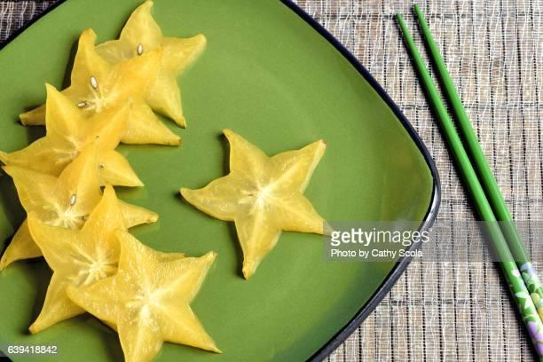 Star Fruit on Plate