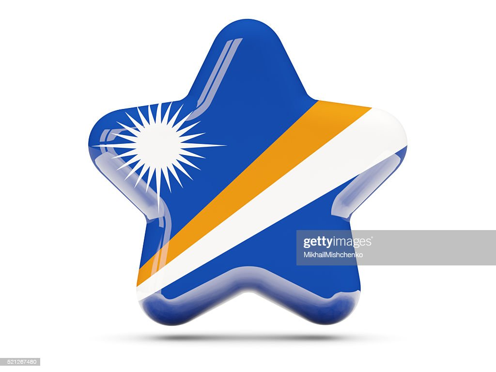 star icon with flag of marshall islands stock photo getty images