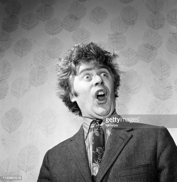 TV star impressionist Mike Yarwood He is pictured impersonating Ken Dodd 19th December 1968