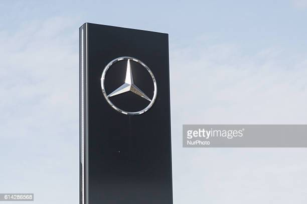 Star in front of MercedesBenzbuilding in Warsaw Poland on 13 October 2016