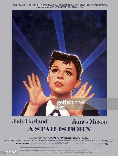 Star Is Born, poster, Judy Garland, 1954.