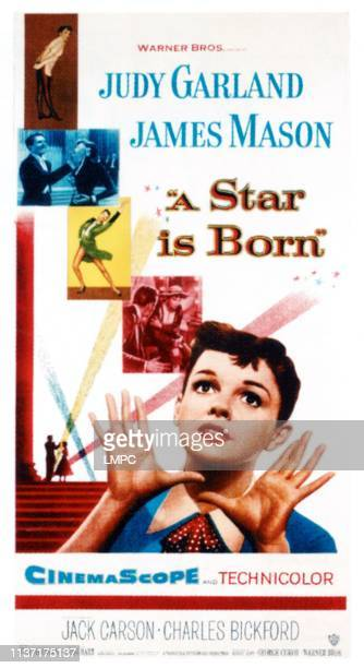 Star Is Born, poster, Judy Garland on poster art, 1954.