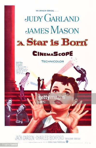 Star Is Born, poster, US poster art, Judy Garland, 1954.