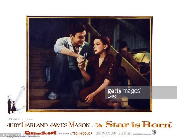 Star Is Born, US lobbycard, frm left: James Mason, Judy Garland, 1954.