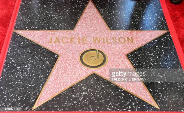 A star is unveiled during a ceremony in Hollywood California on September 4 2019 for the late American soul singer Jackie Wilson who passed away at...