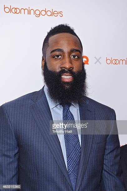Star James Harden makes an appearance at Bloomingdale's on 59th Street on February 12 2015 in New York City