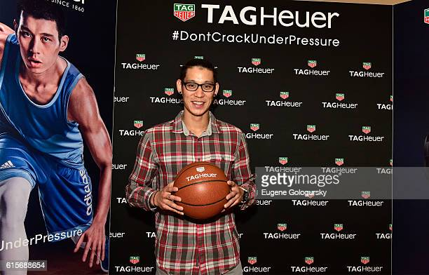 Star Jeremy Lin attends the launch of the new TAG Heuer boutique at Bloomingdale's 59th Street store on October 19, 2016 in New York City.