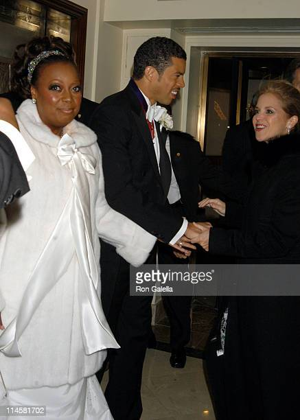 Star Jones Al Reynolds and Katie Couric during Star Jones and Al Reynolds Wedding Ceremony Arrivals and Departures at St Bartholomew's in New York...