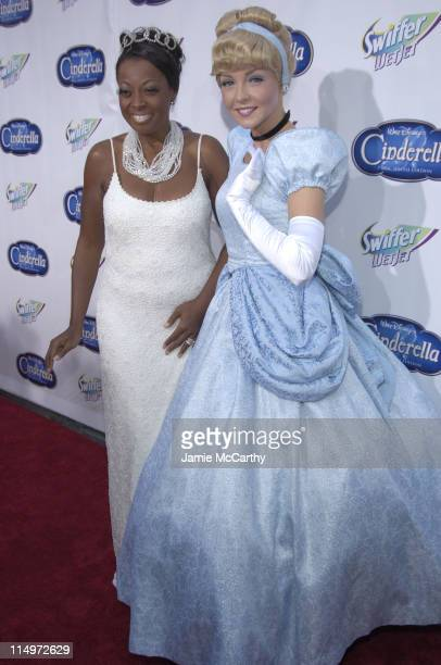 "Star Jones and Cinderella during Swiffer Wetjet Presents the ""Cinderella"" DVD Release and Royal Ball - Red Carpet at Ziegfeld Theatre in New York..."
