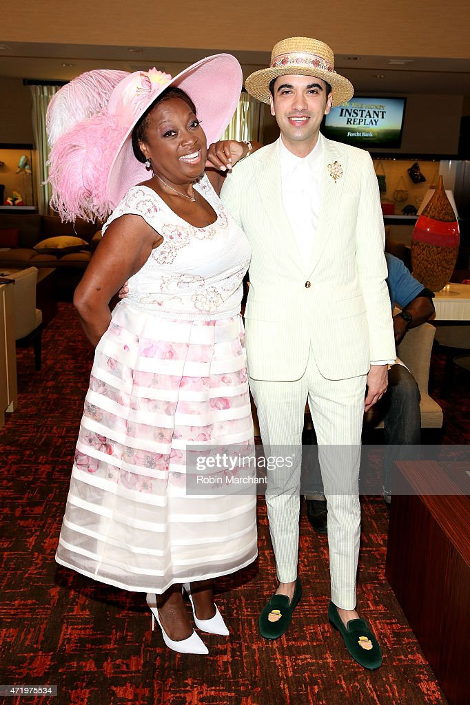 Star Jones (L) and DJ Cassidy attend the 141st Kentucky Derby at Churchill Downs on May 2, 2015 in Louisville, Kentucky.