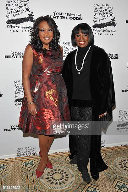 Star Jones and honoree LaTanya Richardson Jackson attend the Children's Defense FundNew York 2016 Beat The Odds Gala at The Pierre Hotel on February...