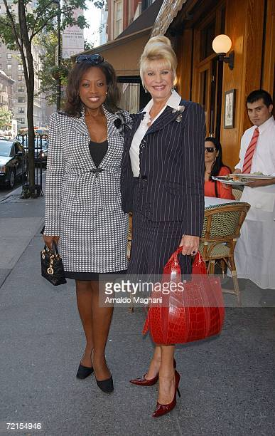 Star Jones and Ivana Trump pose outside of the La Goulue Restaurant where they met for lunch October 12 2006 in New York City