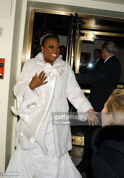 Star Jones and Katie Couric during Star Jones and Al Reynolds Wedding Ceremony Arrivals and Departures at St Bartholomew's in New York City New York...