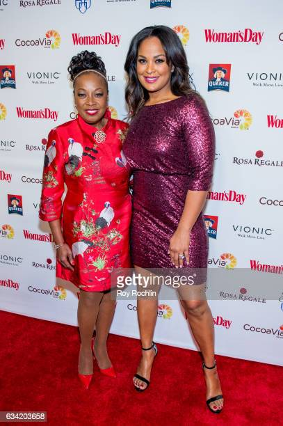 Star Jones and Laila Ali attend the 14th annual Woman's Day Red Dress Awards at Jazz at Lincoln Center on February 7 2017 in New York City