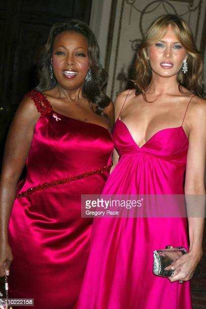 Star Jones and Melania Trump during The Breast Cancer Research Foundation's Annual Red Hot Pink Party Arrivals at Waldorf Astoria in New York City...