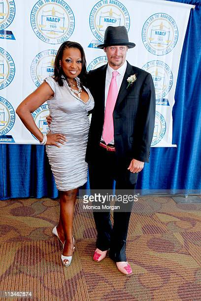 """Star Jones and Robert """"Kid Rock"""" Ritchie backstage at the 56th Annual NAACP Fight for Freedom Fund Dinner at Cobo Hall on May 1, 2011 in Detroit,..."""
