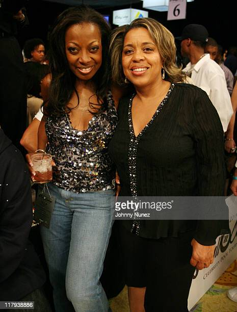 Star Jones and Roberta Shields during Boost Mobile's Zo and Magic Johnson 8Ball Challenge Celebrity Pool Tournament at Wynn Las Vegas in Las Vegas...