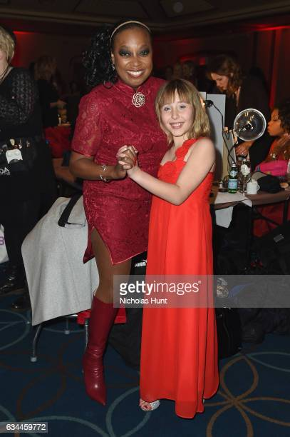 Star Jones and Sophia Montoya attend the American Heart Association's Go Red For Women Red Dress Collection 2017 presented by Macy's at Fashion Week...