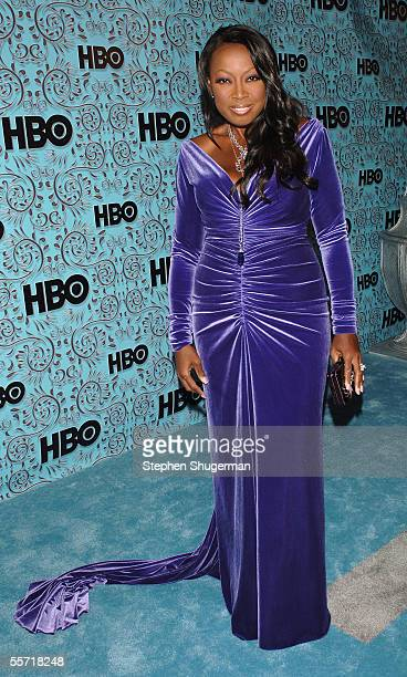Star Jones arrives at the HBO Emmy after party held atThe Plaza at the Pacific Design Center on September 18 2005 in West Hollywood California